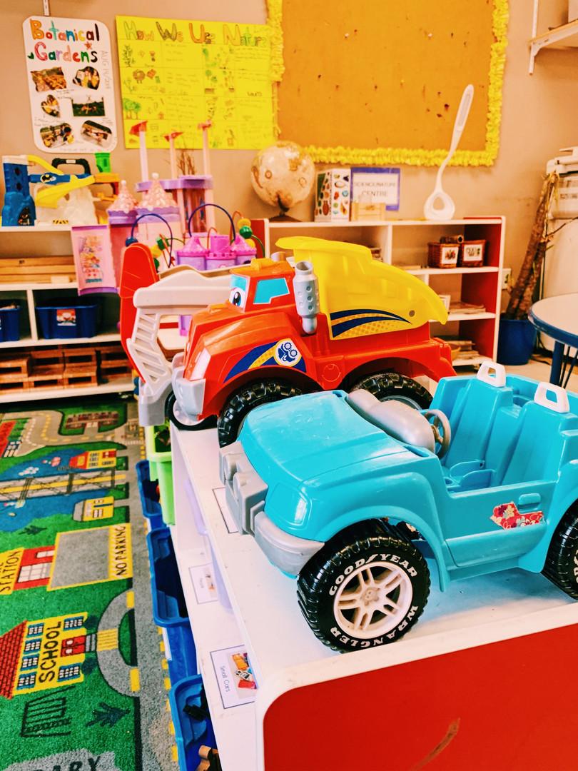Toys in Preschool Room