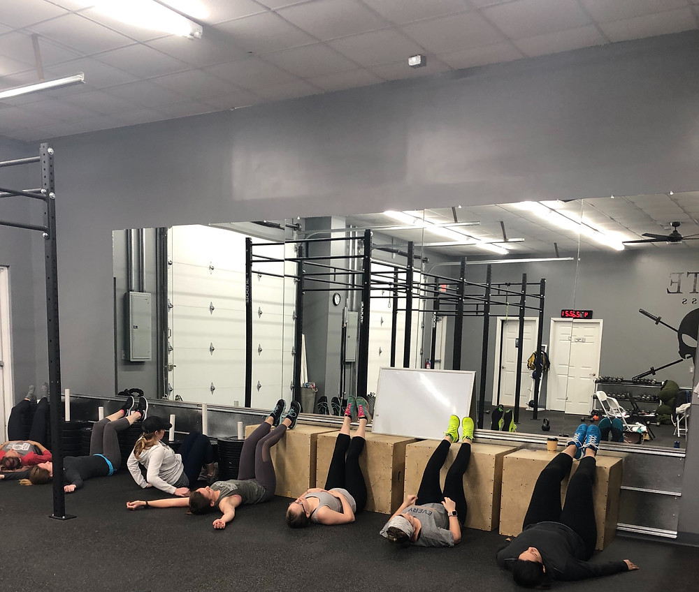 Post Workout Recovery for the Pelvic Floor: Legs up, breathe deep.