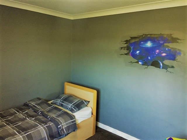 The new space theme for this room