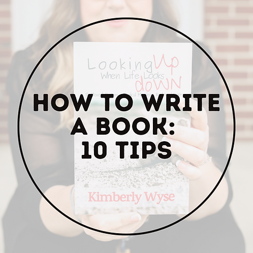 How to Write a Book: 10 Tips