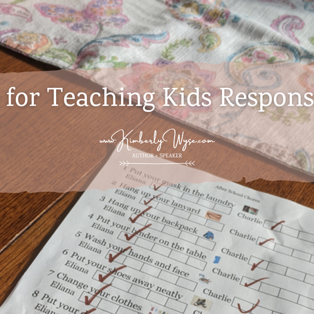 3 Tips for Teaching Kids Responsibility