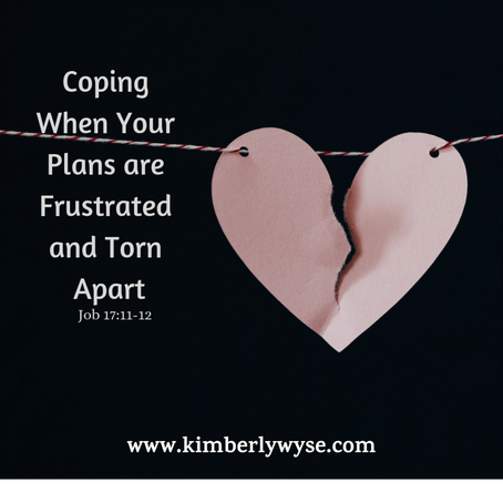 Coping When Our Plans are Frustrated and Torn Apart