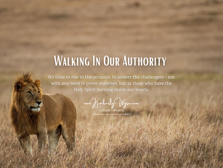 Walking In Our Authority