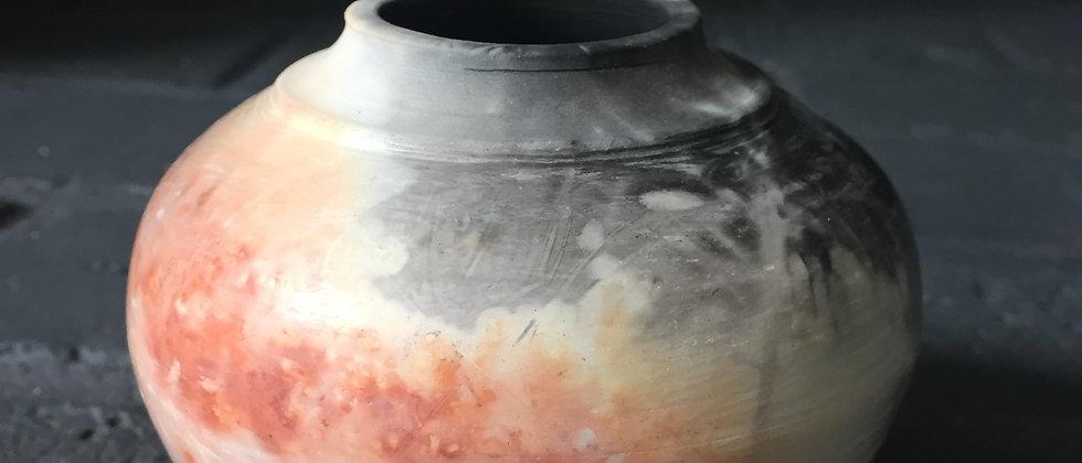 Saggar smoke fired vase
