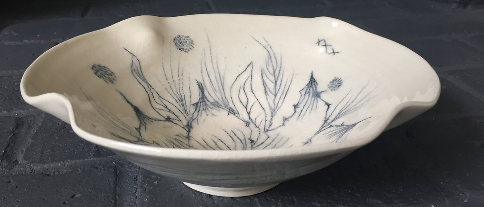 Hand drawn flower bowl