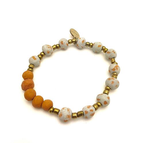 Gray Antiqued Aromatherapy Bracelet