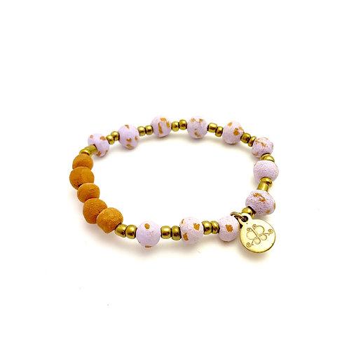 Lavender Antiqued Aromatherapy Bracelet