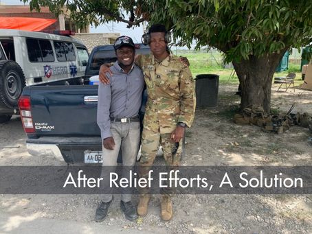 After relief efforts, a solution
