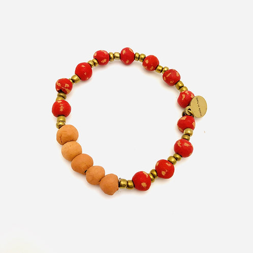 Red Antiqued Aromatherapy Bracelet