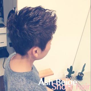 ash beige short hair