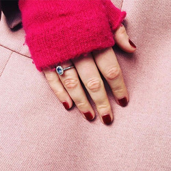 Loving this photo of the Shellac Manicure I did yesterday on a client - a total fashionista with her