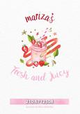 Κατάλογος Mariza's για χυμούς και smoothies