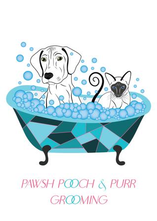 Poch & Purr Grooming Logo