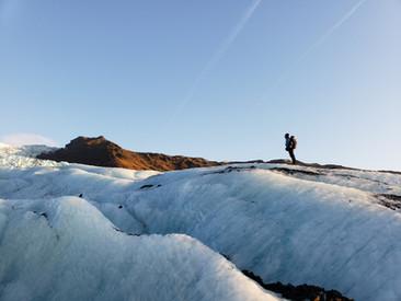 Glacier Guide Scouting Ahead