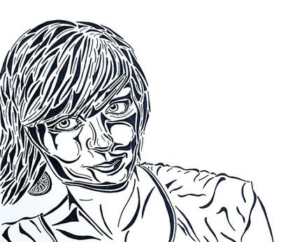 Self-Portrait in Pen