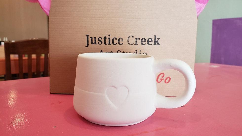 Modern heart mug