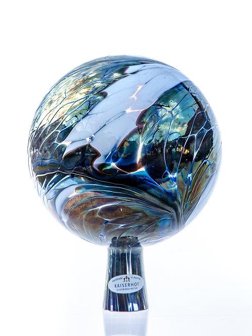 Rosenkugel Silber-Blau