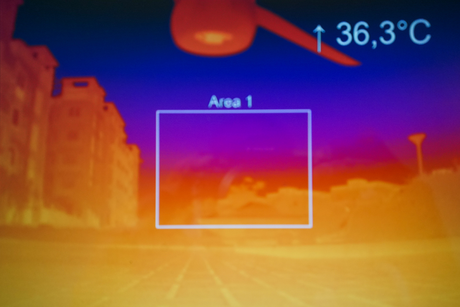 thermal test web