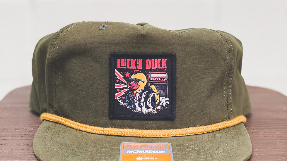 Yellow Rope Hat with rocker patch
