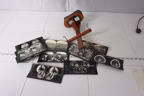 Stereoscope With Stereocards Mfg By Keystone View Co
