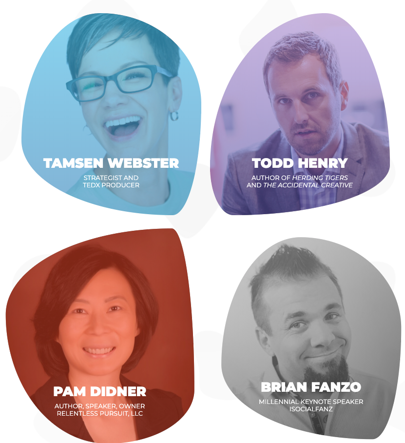 B2B Marketing Exchange Keynote Speaker Brian Fanzo Tamsen Webster Todd Henry Pam Didner