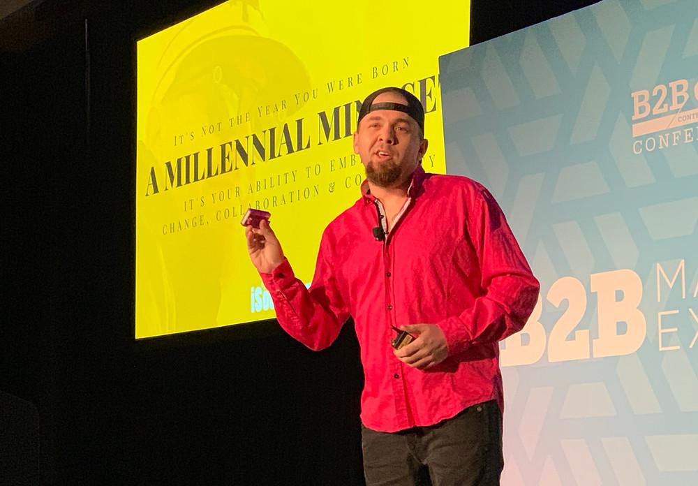B2BMX Brian Fanzo Keynote Millennial Mindset