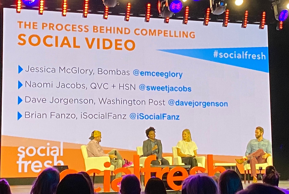 Social Video Panel Discussing TikTok at Social Fresh Conference