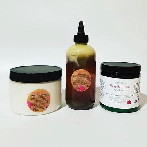 Egyptian Rose Hair Butter - NEW Conditioner 12oz Jar +Rose Shampoo - SET