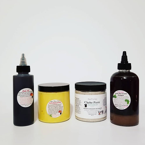 Peppermint Chebe Hair Growth Shampoo, Chebe Paste, Chebe Oil, Chebe Pomade