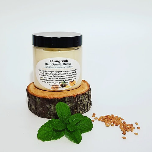 Organic Fenugreek Hair Growth Butter 4oz.