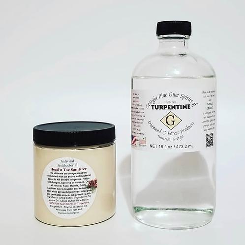 Antiviral Antibacterial Face, Hands, Body, Sanitizer Salve - 8oz Jar