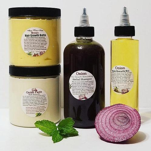 NEW Onion Hair Repair Paste + Shampoo + Butta + Oil Bundle - 8oz Jar