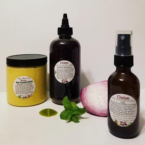 Onion Hair Growth Bundle (2oz Oil) NEW