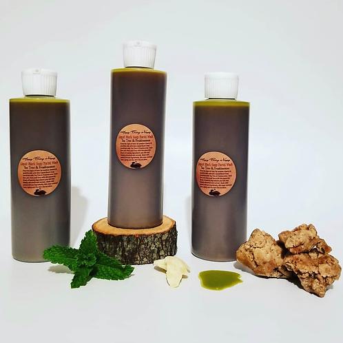 Liquid Black Soap Facial Wash W/Tea Tree & Frankincense - 8oz Bottle