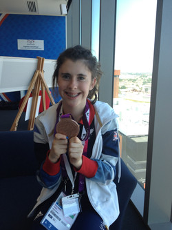 Livvy with her medal