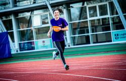 running smiling LC