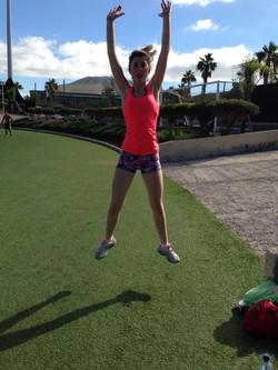 Olivia in training