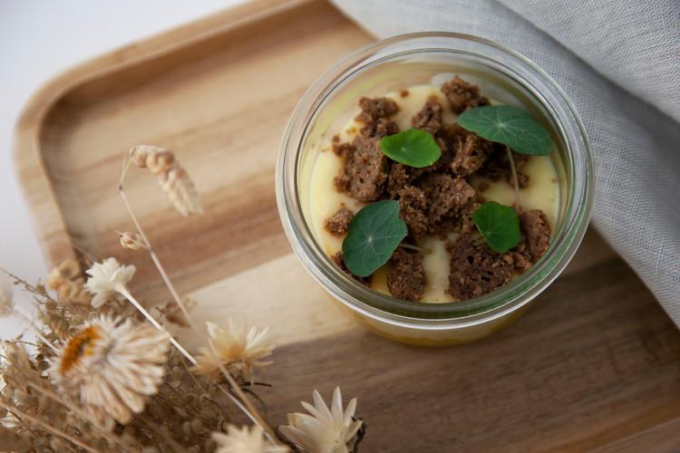 Meal Merci Tartare orange creme crumble