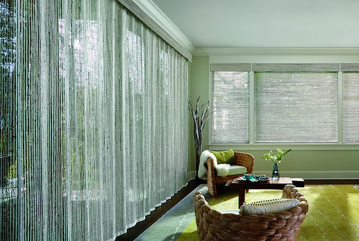 Hunter douglas, Provenance woven wood shades, Bamboo like, Vertical