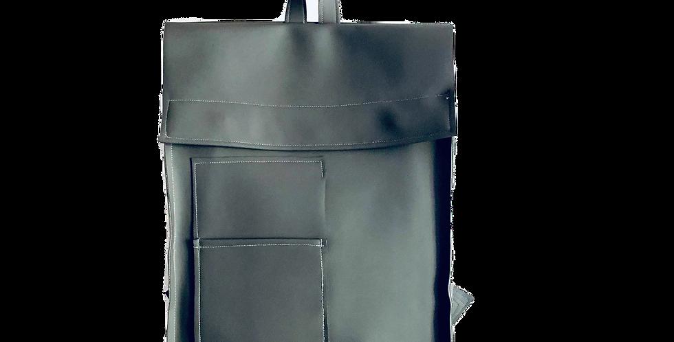 Gray PVC Backpack