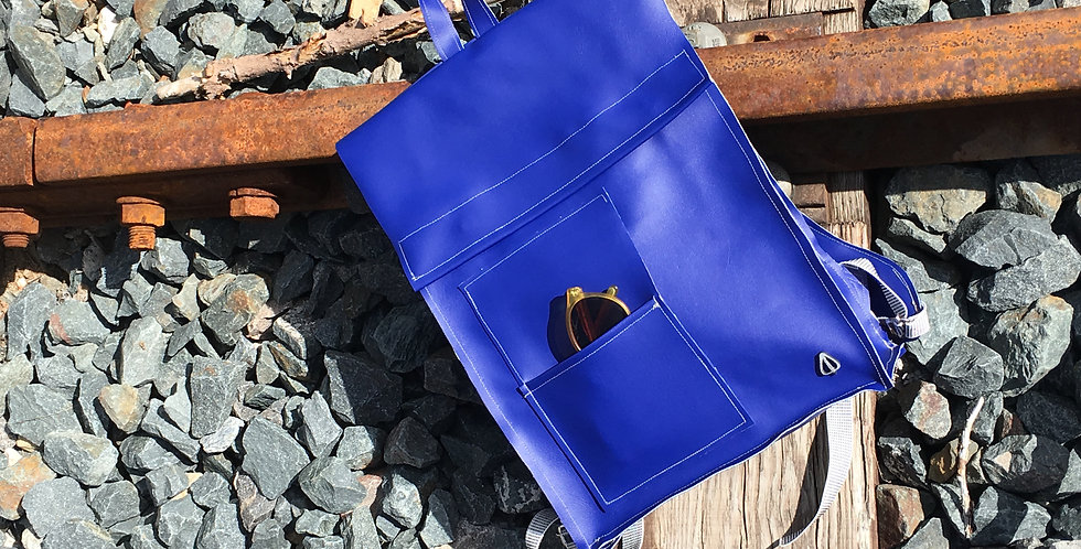 Blue PVC Backpack