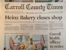 FRONT PAGE NEWS! (above the fold...)