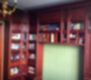 библиотека из массива дуба_мебель на заказ_мебаль из фанеры_шпонированная мебель