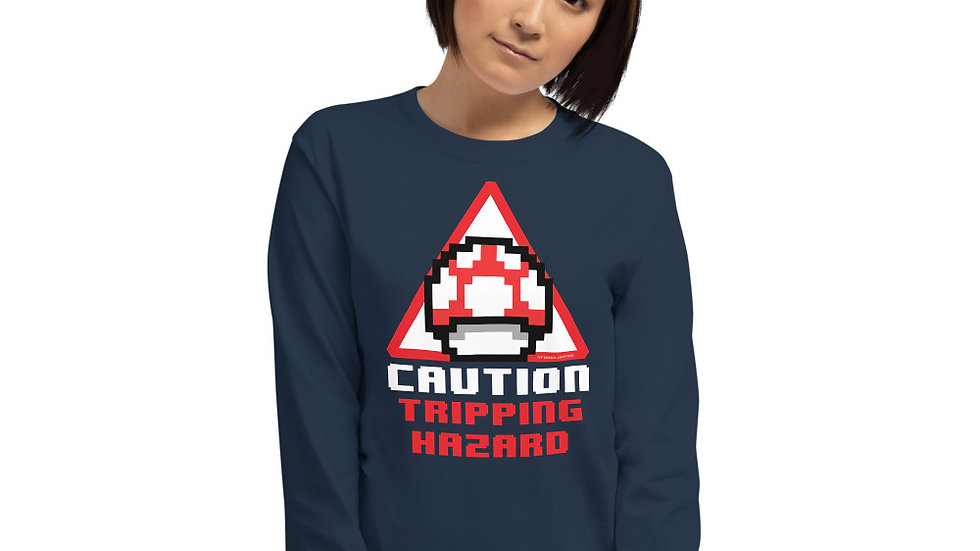 Mushroom Long Sleeve Shirt - Caution: Tripping Hazard