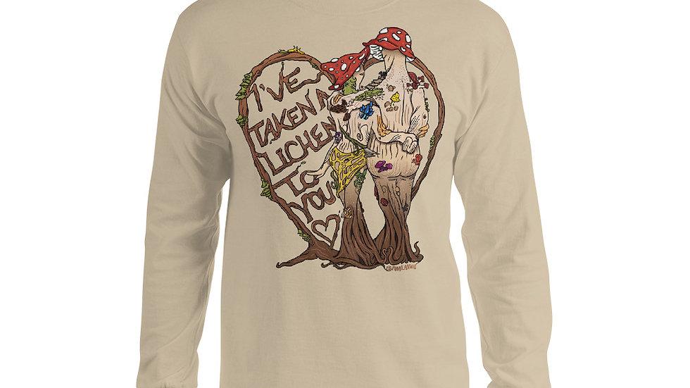 Mushroom Long Sleeve Shirt - I've take a Lichen to you