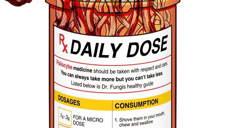 Mushroom Sticker - Daily Dose