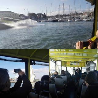Um autocarro que é um barco
