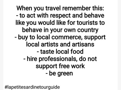 Quando viajares pensa nisto: