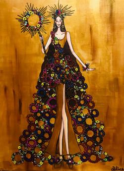 Wreath Goddesses -Gold-