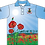 Sublimated ANZAC Remembrance Polo Front View